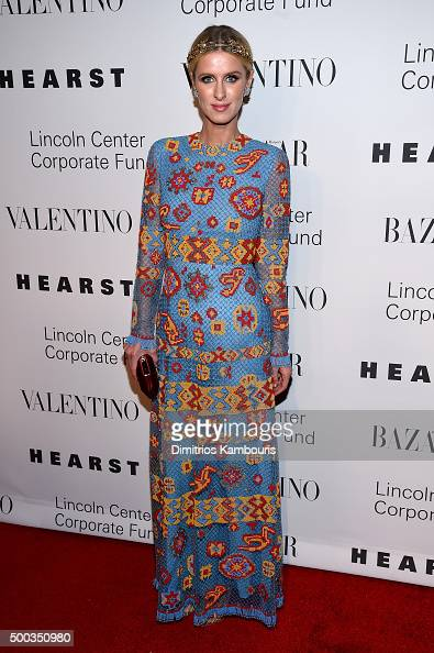 Nicky Hilton attends an evening honoring Valentino at Lincoln Center Corporate Fund Black Tie Gala on December 7 2015 in New York City