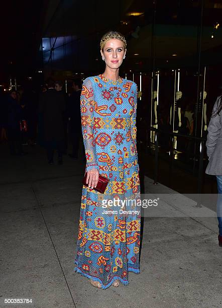Nicky Hilton attends 'An Evening Honoring Valentino' Lincoln Center Corporate Fund Gala at Alice Tully Hall at Lincoln Center on December 7 2015 in...