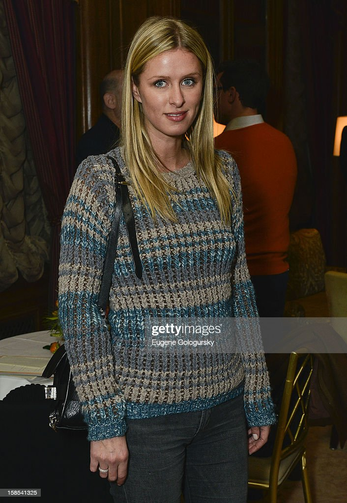 Nicky Hilton attends Derek Blasberg for Opening Ceremony Stationery launch party at Saint Regis Hotel on December 18, 2012 in New York City.