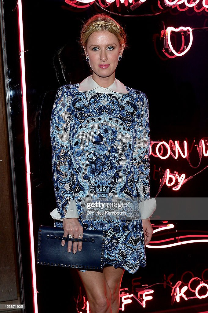 Nicky Hilton attends Dom Perignon with Alex Dellal, Stavros Niarchos, and Vito Schnabel Present Dom Perignon Limited Edition by Jeff Koons at Wall at W Hotel on December 5, 2013 in Miami Beach, Florida.