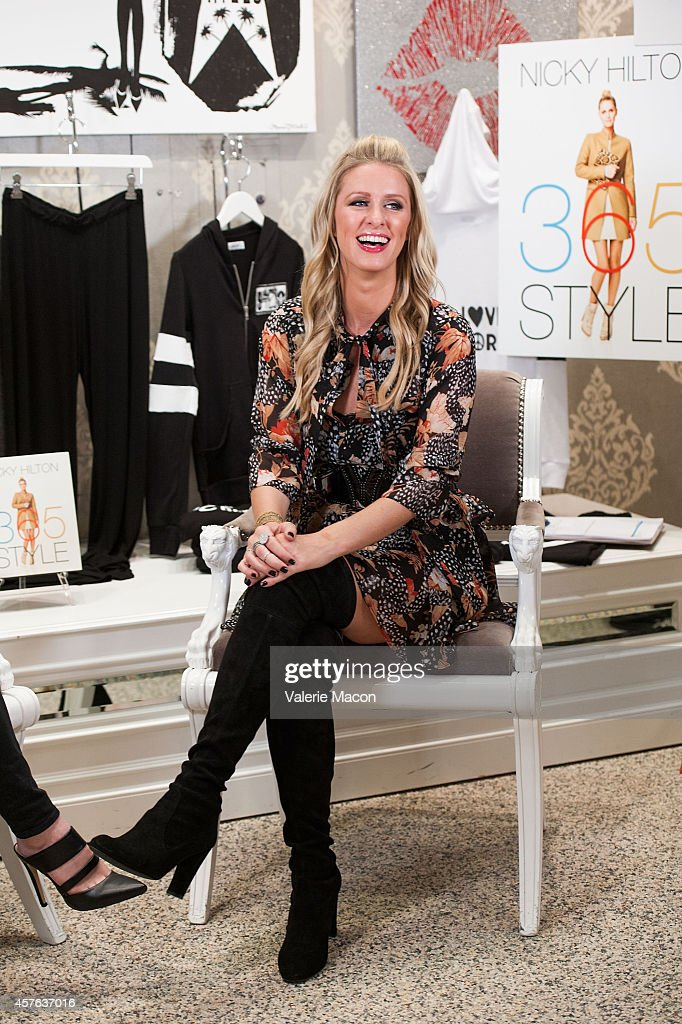 Nicky Hilton attends her '365 Style' book party for the filming of 'The Real Housewives of Beverly Hills' at Kyle by Alene Too on October 21 2014 in...