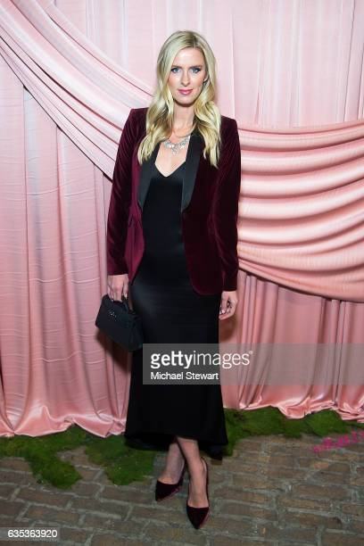 Nicky Hilton attends the Alice Olivia by Stacey Bendet presentation during February 2017 New York Fashion Week at Highline Stages on February 14 2017...