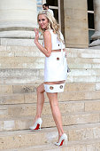 Nicky Hilton attends the Atelier Versace show as part of Paris Fashion Week Haute Couture Fall/Winter 2015/2016 on July 5 2015 in Paris France