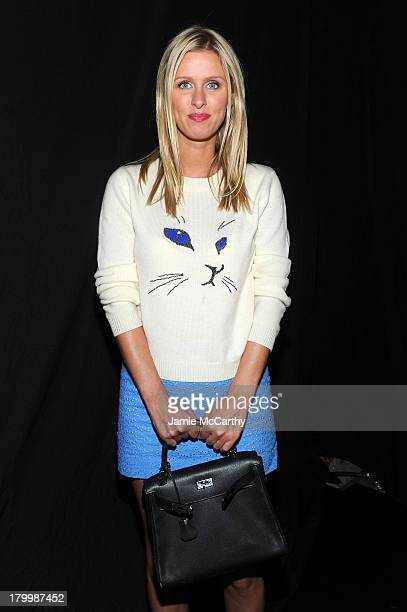 Nicky Hilton attends the Charlotte Ronson Presentation during MercedesBenz Fashion Week Spring 2014 at The Box at Lincoln Center on September 7 2013...