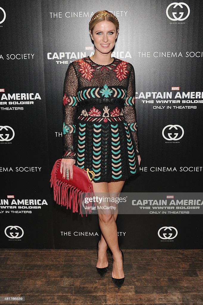 Nicky Hilton attends The Cinema Society & Gucci Guilty screening of Marvel's 'Captain America: The Winter Soldier' at Tribeca Grand Hotel on March 31, 2014 in New York City.
