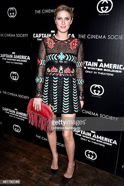 Nicky Hilton attends The Cinema Society Gucci Guilty screening of Marvel's 'Captain America The Winter Soldier' at Tribeca Grand Hotel on March 31...