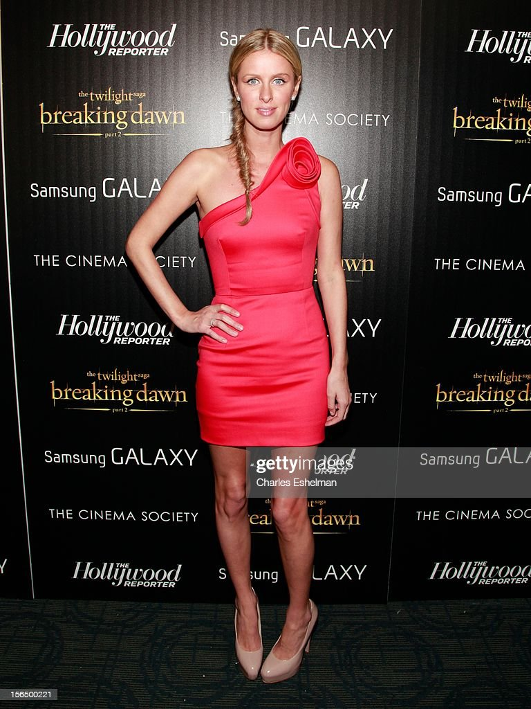 <a gi-track='captionPersonalityLinkClicked' href=/galleries/search?phrase=Nicky+Hilton+-+Born+1983&family=editorial&specificpeople=11520989 ng-click='$event.stopPropagation()'>Nicky Hilton</a> attends the Cinema Society with The Hollywood Reporter and Samsung Galaxy screening of 'The Twilight Saga: Breaking Dawn Part 2' at the Landmark Sunshine Cinema on November 15, 2012 in New York City.