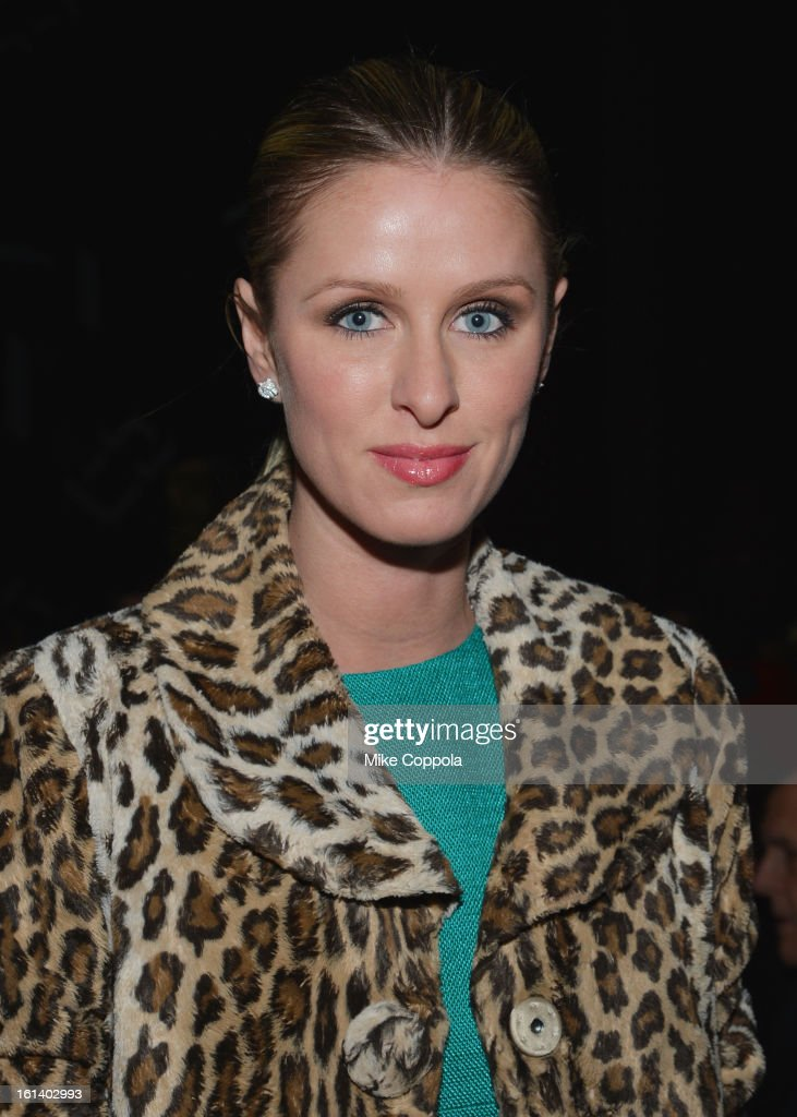 Nicky Hilton attends the Diane Von Furstenberg Fall 2013 fashion show during Mercedes-Benz Fashion at The Theatre at Lincoln Center on February 10, 2013 in New York City.