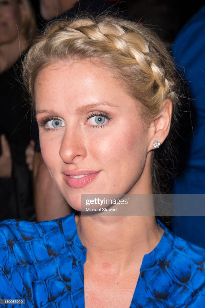 Nicky Hilton attends the Diane Von Furstenberg show during Spring 2014 Mercedes-Benz Fashion Week at The Theatre at Lincoln Center on September 8, 2013 in New York City.