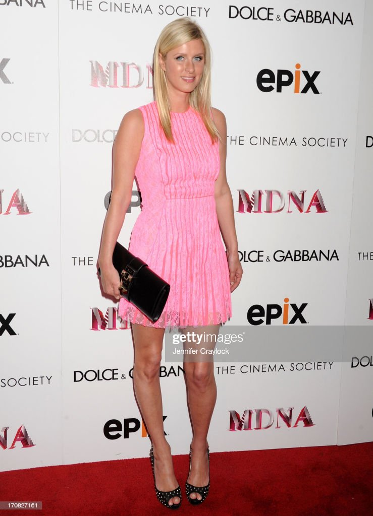 Nicky Hilton attends the Dolce & Gabbana and The Cinema Society screening of the Epix World premiere of 'Madonna: The MDNA Tour' at The Paris Theatre on June 18, 2013 in New York City.