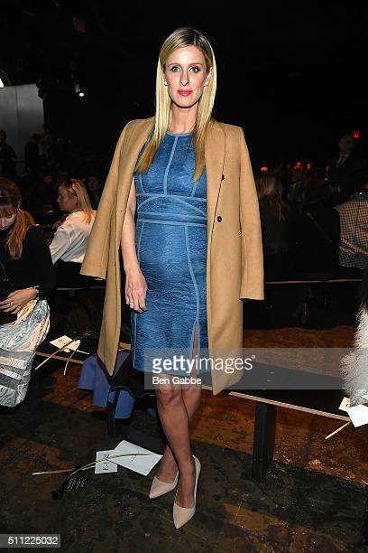 Nicky Hilton attends the J Mendel fashion show during Fall 2016 New York Fashion Week at Cedar Lake on February 18 2016 in New York City