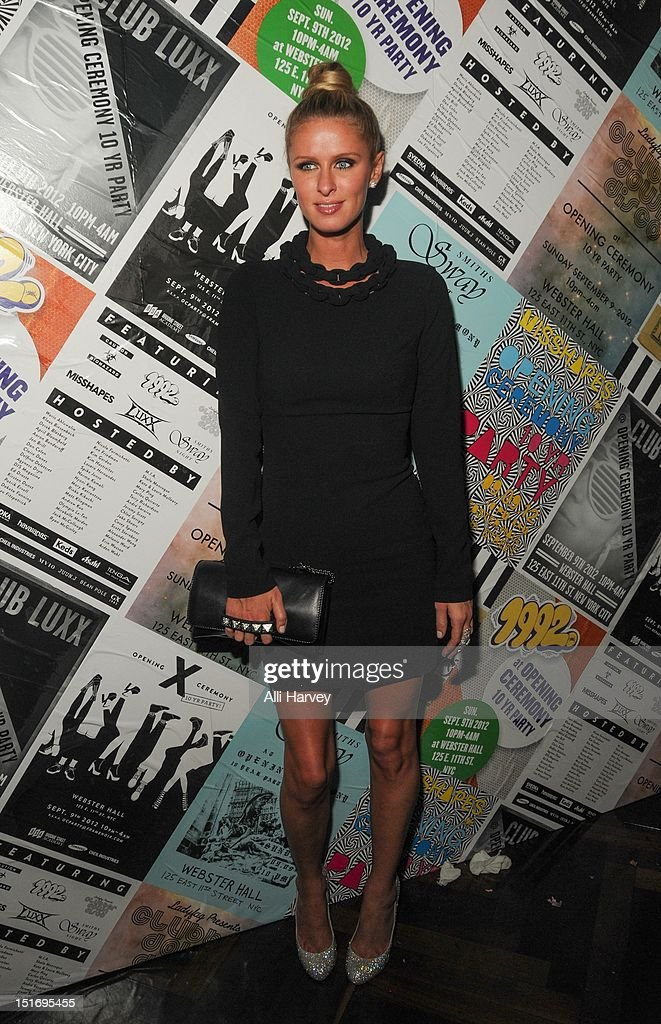 <a gi-track='captionPersonalityLinkClicked' href=/galleries/search?phrase=Nicky+Hilton+-+Born+1983&family=editorial&specificpeople=11520989 ng-click='$event.stopPropagation()'>Nicky Hilton</a> attends the Opening Ceremony Spring/Summer 2013 Fashion Week Party at Webster Hall on September 9, 2012 in New York City.