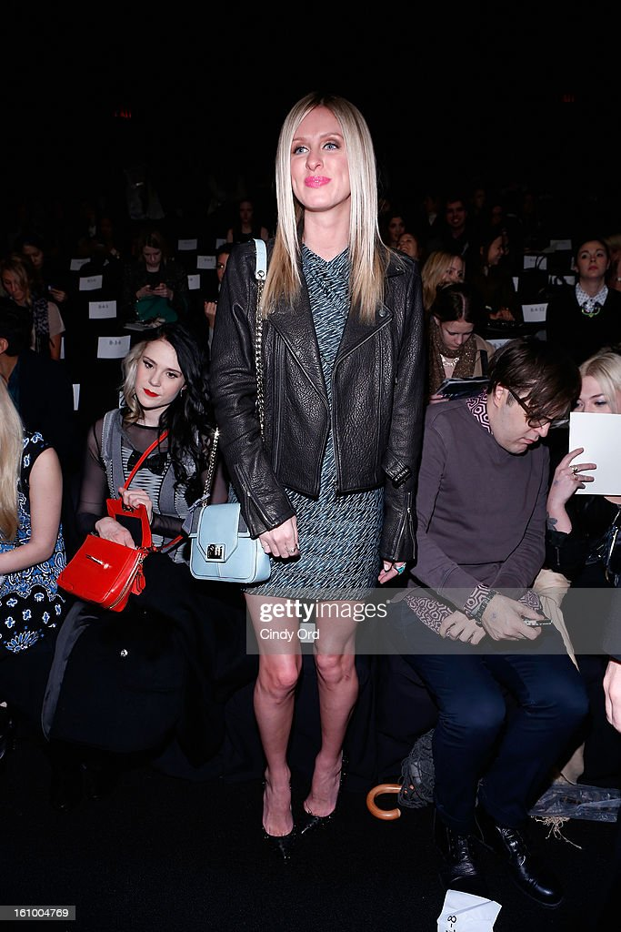 Nicky Hilton attends the Rebecca Minkoff Fall 2013 fashion show during Mercedes-Benz Fashion at The Theatre at Lincoln Center on February 8, 2013 in New York City.