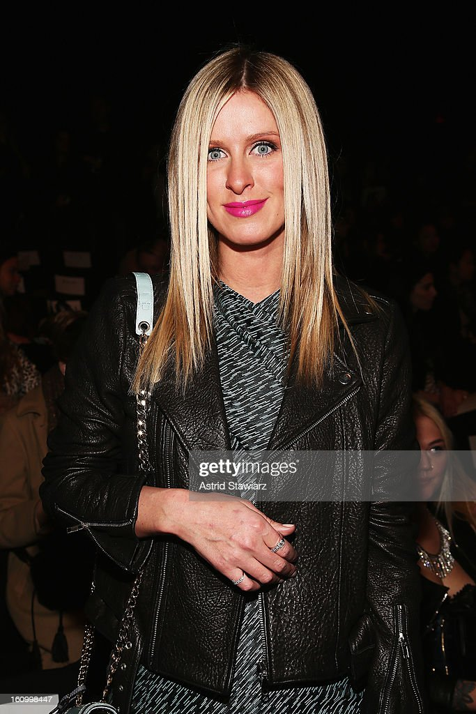 Nicky Hilton attends the Rebecca Minkoff Fall 2013 fashion show with TRESemme during Mercedes-Benz Fashion Week at The Theatre at Lincoln Center on February 8, 2013 in New York City.