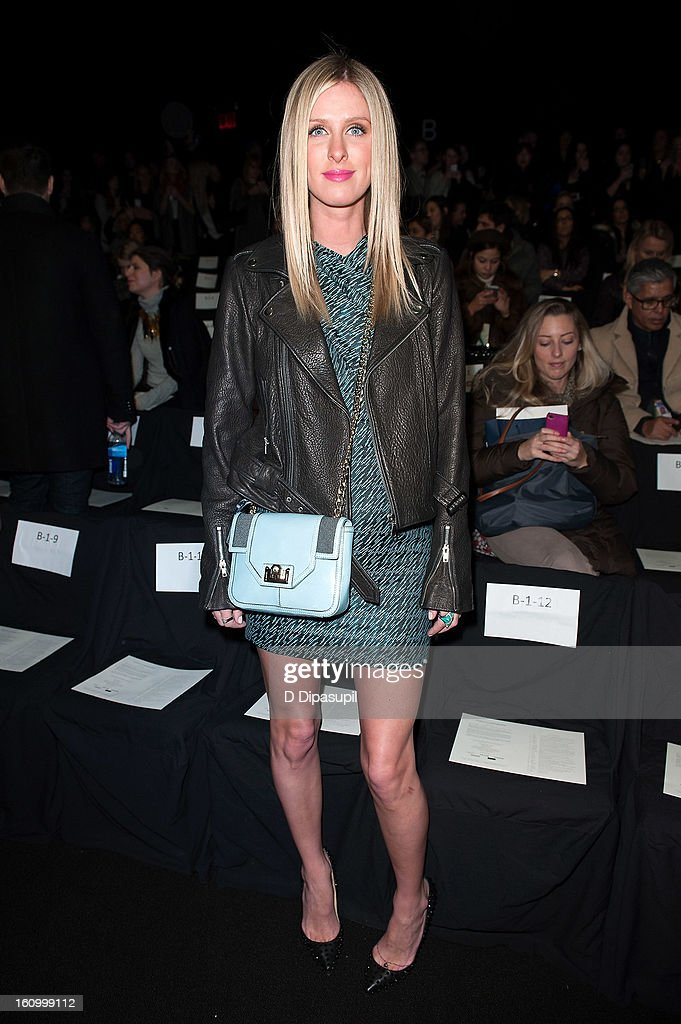 Nicky Hilton attends the Rebecca Minkoff Fall 2013 Mercedes-Benz Fashion Show at The Theater at Lincoln Center on February 8, 2013 in New York City.