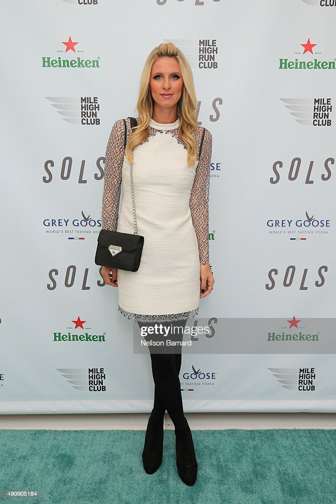 Nicky Hilton attends the SOLS launch party for the new SOLS Flex on October 1 2015 in New York City SOLS Flex are bespoke 3Dprinted insoles...