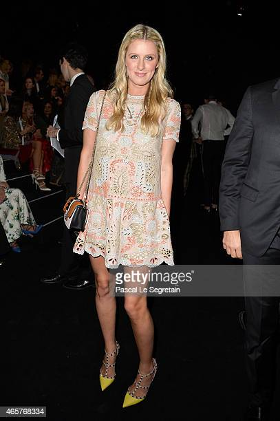 Nicky Hilton attends the Valentino show as part of the Paris Fashion Week Womenswear Fall/Winter 2015/2016 on March 10 2015 in Paris France