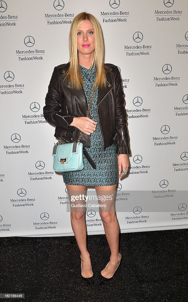 Nicky Hilton is seen during Fall 2013 Mercedes-Benz Fashion Week at Lincoln Center for the Performing Arts on February 8, 2013 in New York City.