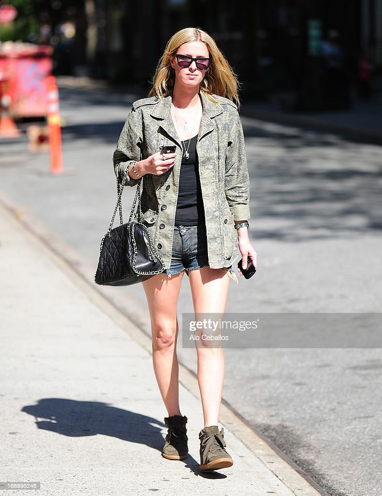 Nicky Hilton is seen in the West Village on May 16, 2013 in New York City.