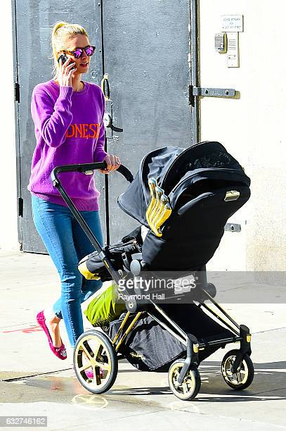 Nicky Hilton is seen walking with a baby stroller in Soho on January 25 2017 in New York City