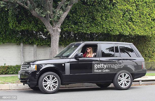 Nicky Hilton is seen while a motorcycle cop stops her and issues a ticket for texting while driving on March 17 2011 in Los Angeles California