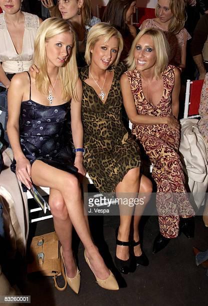Nicky Hilton Paris Hilton and Pia Getty