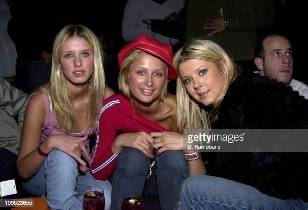 Nicky Hilton Paris Hilton and Tara Reid during AJArmani Jeans and Vibe Celebrate Craig Davids North American Tour at Emporio Armani in New York City...