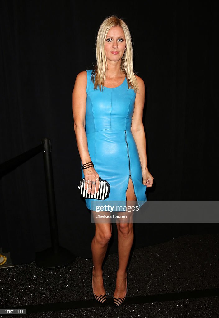 Nicky Hilton poses backstage at the Rebecca Minkoff Spring 2014 fashion show during Mercedes-Benz Fashion Week at The Theatre at Lincoln Center on September 6, 2013 in New York City.