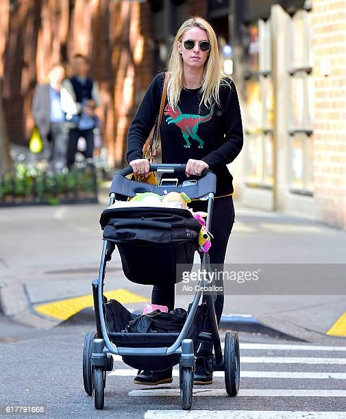 Nicky Hilton Rothschild and Lily Grace Victoria Rothschild are seen in Soho on October 24 2016 in New York City