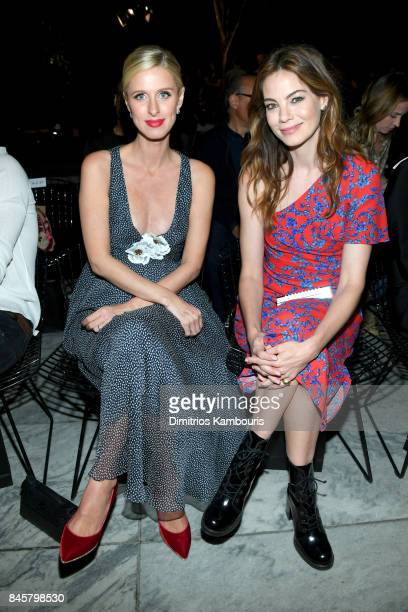 Nicky Hilton Rothschild and Michelle Monaghan attend Oscar De La Renta fashion show during New York Fashion Week on September 11 2017 in New York City
