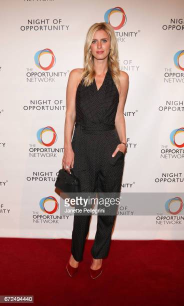 Nicky Hilton Rothschild attends The Opportunity Network's 10th Annual Night of Opportunity Gala at Cipriani Wall Street on April 24 2017 in New York...