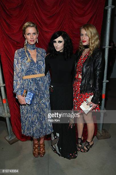 Nicky Hilton Rothschild designer Stacey Bendet and Leven Rambin attend the alice olivia by Stacey Bendet Fall 2016 presentation at The Gallery...