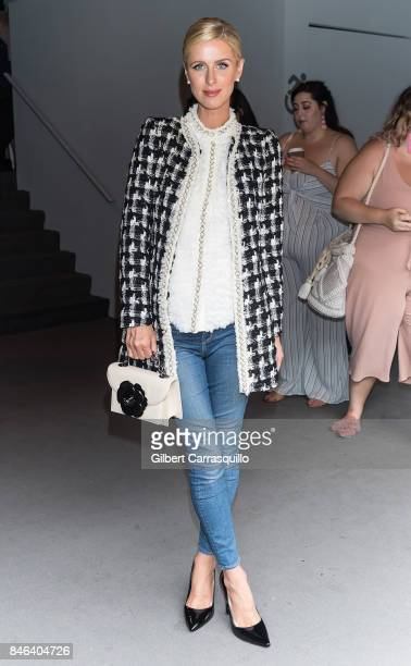 Nicky Hilton Rothschild is seen arriving at Alice Olivia By Stacey Bendet fashion show during September 2017 New York Fashion Week The Shows at...