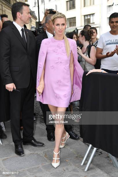 Nicky Hilton Rothschild is seen arriving at Valentino fashion show during the Paris Fashion Week Haute Couture Fall/Winter 20172018 on July 5 2017 in...