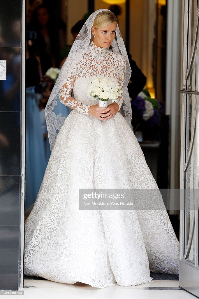 Nicky Hilton seen leaving Claridge's Hotel on her wedding day on July 10 2015 in London England Photo by Neil Mockford/Alex Huckle/GC Images