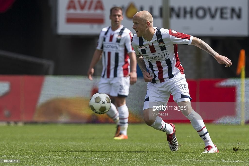 Nicky Hofs of Willem II , Danny Guijt of Willem II during the Dutch Eredivisie match between Willem II and AZ Alkmaar on May 12, 2013 at the Koning Willem II stadium in Tilburg, The Netherlands.