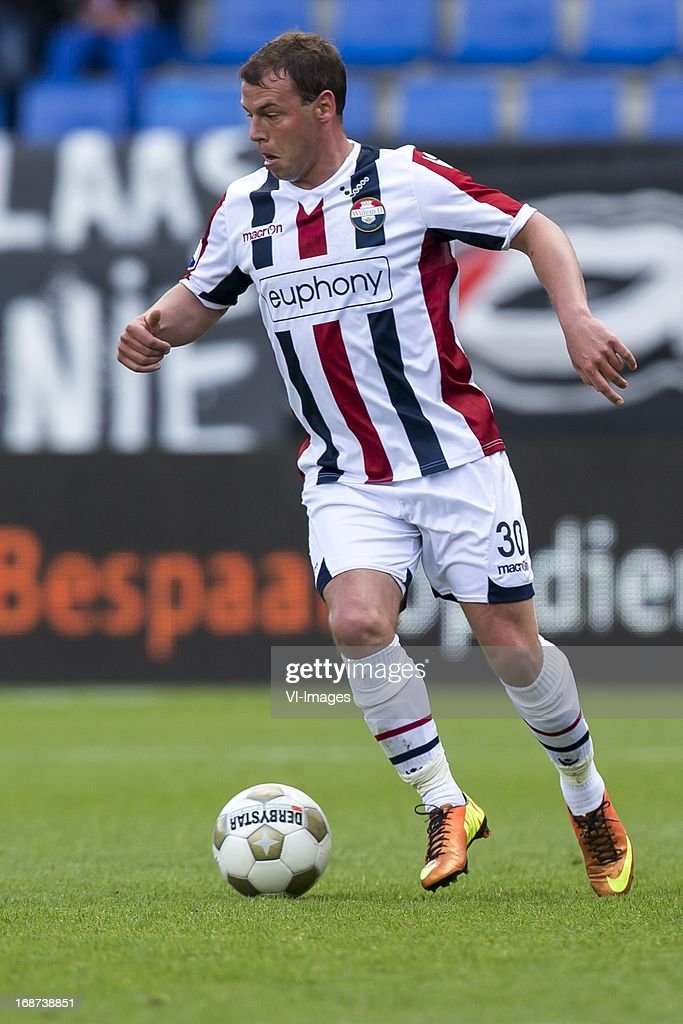 Nicky Hofs of Willem II during the Dutch Eredivisie match between Willem II and AZ Alkmaar on May 12, 2013 at the Koning Willem II stadium in Tilburg, The Netherlands.