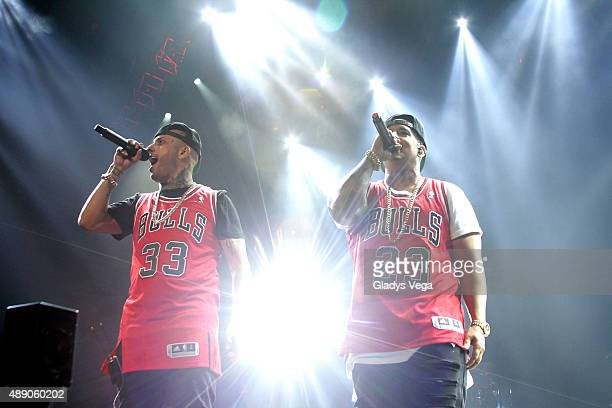 Nicky Jam and Daddy Yankee perform at Coliseo Jose M Agrelot on September 18 2015 in San Juan Puerto Rico