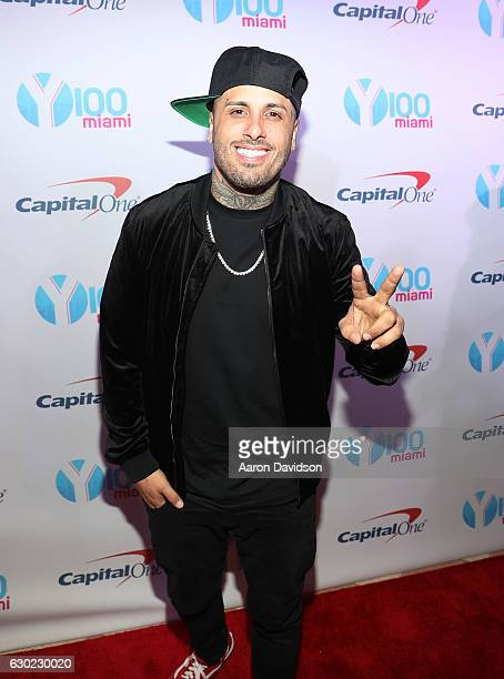 Nicky Jam attendsY100's iHeartRadio Jingle Ball 2016 at BBT Center on December 18 2016 in Sunrise Florida