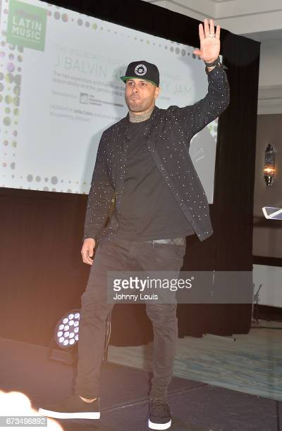 Nicky Jam during The Billboard Latin Music Conference Awards THE BILLBOARD SUPERSTAR MANO A MANO panel at Ritz Carlton South Beach on April 25 2017...