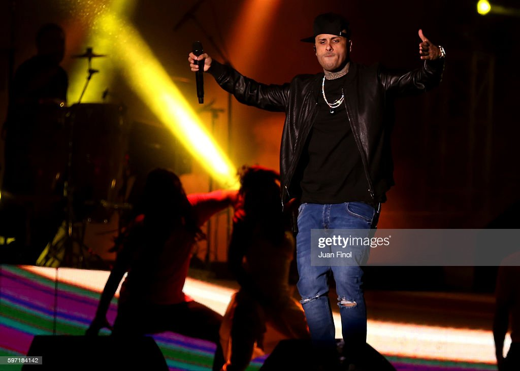 Nicky Jam of USA performs live at Monumental Stadium as part of Juntos en Concierto VII on August 27 2016 in Lima Peru