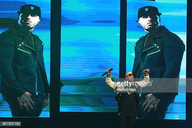 Nicky Jam performs as part of Daddy Yankee Nicky Jam Concert 'Los Cangris' at Coliseo Jose Miguel Agrelot on December 2 2016 in San Juan Puerto Rico