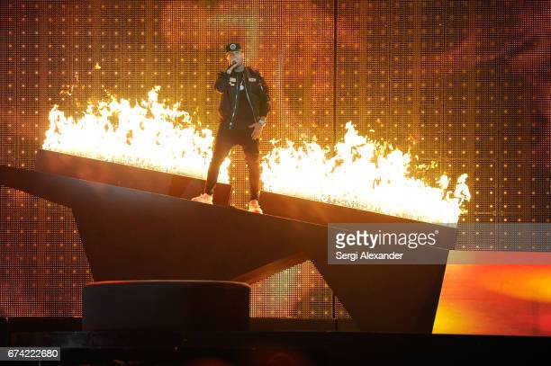 Nicky Jam performs onstage at the Billboard Latin Music Awards at Watsco Center on April 27 2017 in Coral Gables Florida