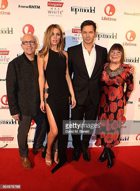 Nicky Johnston Abbey Clancy Paul Sculfor and Hilary Alexander attend Lifetime's launch of Britain's Next Top Model airing tonight at 9pm on Lifetime...