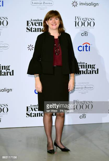 Nicky Morgan MP at the London Evening Standard's annual Progress 1000 in partnership with Citi and sponsored by Invisalign UK held in London