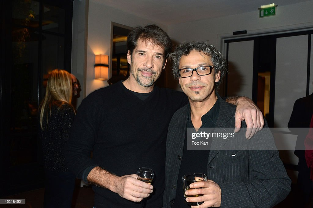 Nicky Naude and Kader Boukhanef attend The Burgundy Hotel Compilation CD Launch Party on November 26, 2013 in Paris, France.