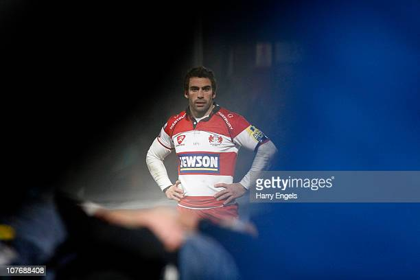 Nicky Robinson of Gloucester looks on during the Amlin Challenge Cup match between Gloucester and La Rochelle at Kingsholm Stadium on December 19...