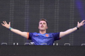 Nicky Romero performs during Ultra Music Festival at Bayfront Park Amphitheater on March 29 2014 in Miami Florida