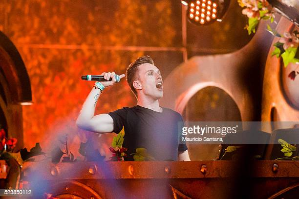 Nicky Romero performs live on stage during the third day of the Tomorrowland music festival at Parque Maeda Itu on April 23 2016 in Sao Paulo Brazil
