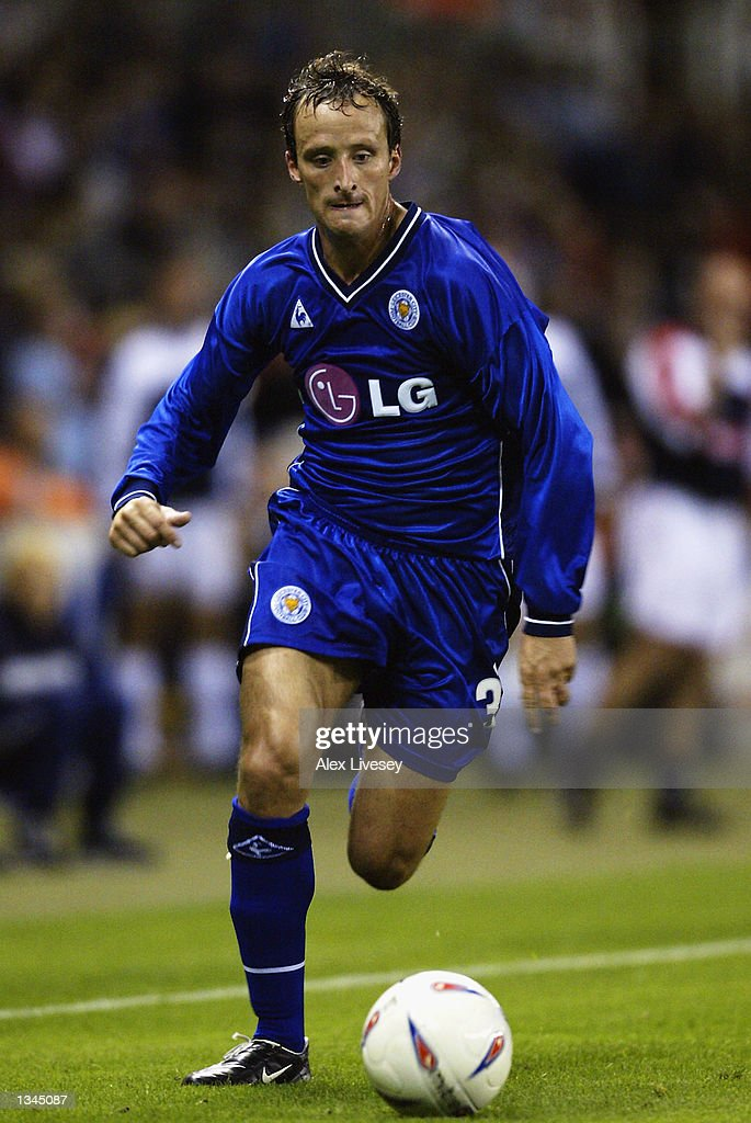 Nicky Summerbee of Leicester City in action during the Nationwide First Division match between Stoke City and Leicester City at the Brittania Stadium in Stoke on 14 August, 2002.